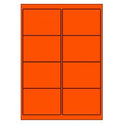 99 x 68  mm 100 p.boîte ORANGE FLUO