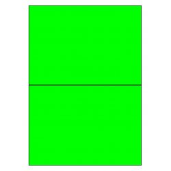 210 x 296 mm 100 feuilles p.boîte VERT FLUO