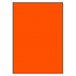 210 x 296 mm  100 sheets p. box ORANGE FLUO