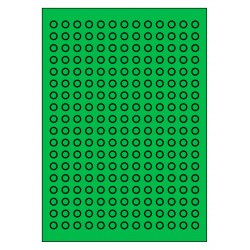 10 mm Rondes 100 feuilles p. boite 234 p. feuille VERT