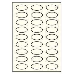 50 x 25 mm Oval 100 feuilles p. boite IVOIRE