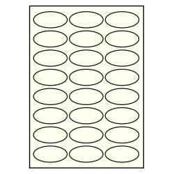 63 x 31 mm Oval 100 feuilees p. boite IVOIRE