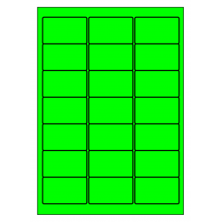99 x 72 mm 100 feuilles p.boîte VERT FLUO