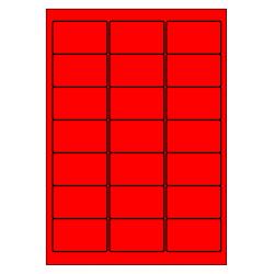 63 x 38 mm100 feuilles p.boîte ROUGE FLUO