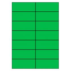 105 x 42 mm 100 feuilles p.boîte VERT