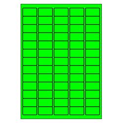 63 x 38 mm 100 feuilles p.boîte VERT FLUO