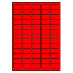 38 x 21 mm 100 feuilles p.boîte ROUGE FLUO