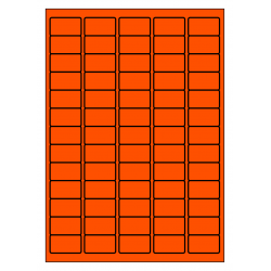 38 x 21 mm 100 p.boîte ORANGE FLUO