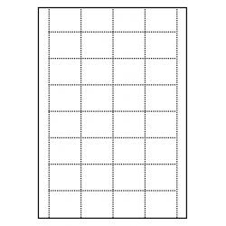 Cartes de rayonnage 100 feuilles p.boîte a 24 cartes