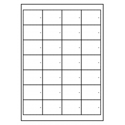 Cartes suspendues met gaatje 100 feuilles p.boîte à 28