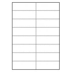 Cartes de rayonnage 100 feuilles p.boîte a 16 cartes