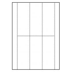 Etiquettes pour classeurs 100 feuilles p.boîte à 6 cartes