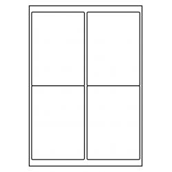P.E. LASER  200 sheets 4/A4 99x136 mm