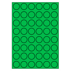 30 mm rondes 100 feuilles p.boîte VERT