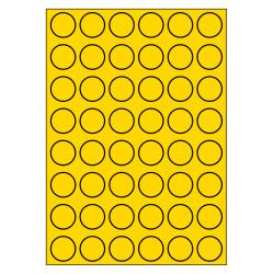 30 mm rondes 100 feuilles p.boîte JAUNE
