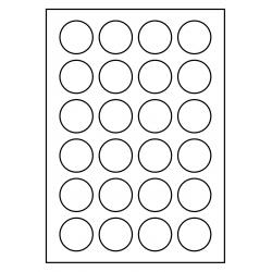 40 mm rondes 100 feuilles p.boîte, Poly Master Vinyl