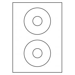 114 mm CD Label 200 feuilles p.boîte