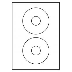 118 mm rondes CD Labels 100 feuilles p.boîte OPAQUE