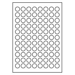 20 mm rondes 100 feuilles p.boîte Poly-Master-Vinyl