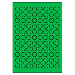 20 mm rondes 100 feuilles p.boîte VERT