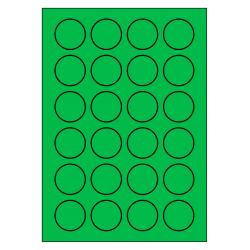 40 mm rondes 100 feuilles p.boîte VERT