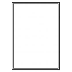 199 x 289 mm 1 p. feuille 1.000 feuilles p. boîte