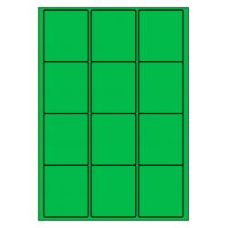 63 x 72 mm 100 feuilles p.boîte VERT