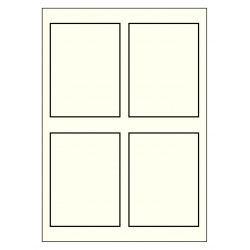 90 x 120 mm ivoire avec cadre specialle 100 feuilles p.boîte