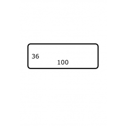 100 mm x 36 mm Papier Brillant 2.500 par rouleaux