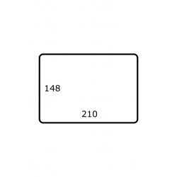 210 mm x 148 mm 1.000 par rouleaux Polyester Brillant