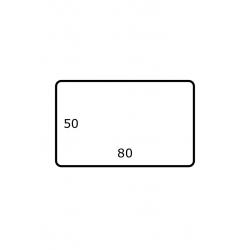 80 mm x 50 mm 2.500 par rouleaux Polyester Brillant
