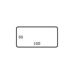 100 x 50 mm 2.500 par rouleaux Polyester Brillant