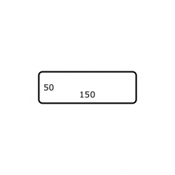 150 x 50 mm 2.500 par rouleaux Polyester Brillant