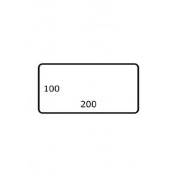 200 x 100 mm 1.750 par rouleaux Polyester Brillant