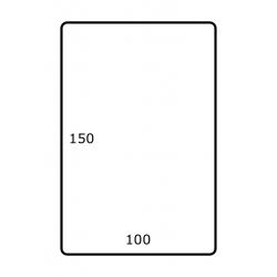 100 mm x 150 mm 1.000 par rouleaux Polyester Mate