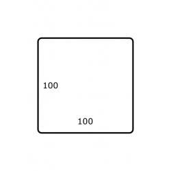 100 mm x 100 mm 1.750 par rouleaux Polyester Mate
