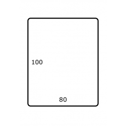 80 mm x 100 mm 1.750 par rouleaux Polyester Mate