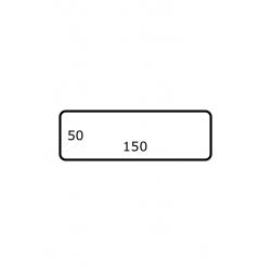 150 x 50 mm 2.500 par rouleaux Polyester Mate