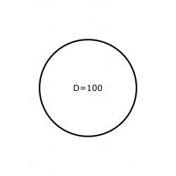 100 mm Rondes 1.750 par rouleaux Polyester Mate