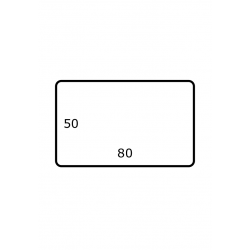 80 x 50 mm 2.500 par rouleax Satin Polyester