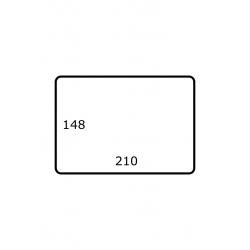 210 x 148 mm 1.000 par rouleaux Satin Polyester