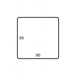 90 x 90 mm 1.750 par rouleaux Satin Polyester