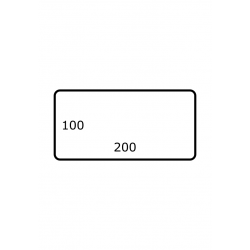200 x 100 mm 1.750 par rouleux Satin Polyester