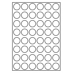 30 mm rondes 100 feuilles p.boîte PMV