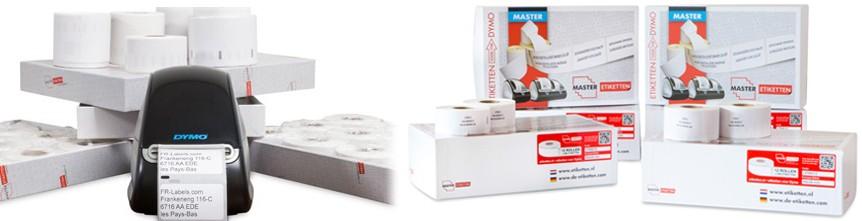 Étiquettes pour imprimantes DYMO